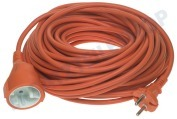 Bellson 006472  Kabel H05VV-F 2x1mm2 Verlängerungskabel orange