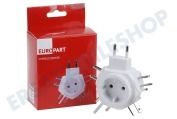 Europart  Stecker Reisestecker Set Travel-Star weiß