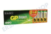 GP 03015AB8+4  LR6 GP Super Valuepack 8 + 4 AA AA 1,5 Volt