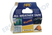 HPX AT4805 All Weather  Klebeband transparent 48mm x 5m Reparatur / Dichtband, 48mm x 5m
