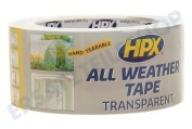 HPX  AT4825 All Weather Tape transparent 48mm x 25m Reparatur Dichtband, 48mm x 25m