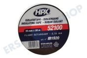 HPX IB1920  52100 PVC Isolierband schwarz 19mm x 20m Isolierband,  19mm x 20m