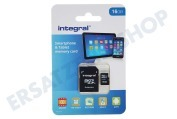 Integral INMSDH16G10-90SPTAB  Speicherkarte Smartphone & Tablet, Class 10 (inkl.SD Adapter) Micro SDHC Karte 16GB 90MB/s