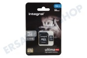 Integral INMSDH16G10-90U1  Speicherkarte Class 10 (inkl.SD Adapter) Micro SDHC Karte 16GB 90MB
