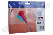 Brother LC223VALBP LC-223 Multipack Brother-Drucker Druckerpatrone LC-223 Multipack BK/C/M/Y, schwarz/blau/rot/gelb MFC-J4120DW, MFC-J4420DW, MFC-J4620DW