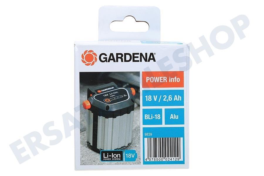 Zubehör für viele GARDENA GARDENA System Akku BLi-18 9839-20